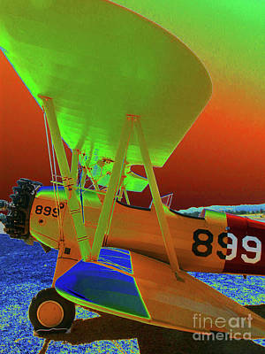 Warplane Painting - 899 Bi Plane by Diane E Berry