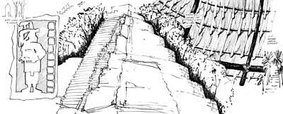 Drawing - 8.9.mexico-2-detail-c by Charlie Szoradi