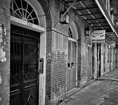 Photograph - 8am On Orleans Street In B/w - New Orleans by Greg Jackson