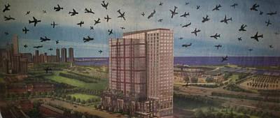 Passenger Plane Mixed Media - 9-11-3 by William Douglas