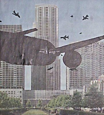 Passenger Plane Mixed Media - 9-11-7 by William Douglas