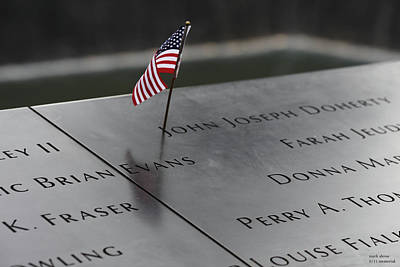 Photograph - 9/11 Memorial At Ground Zero by Mark Alesse