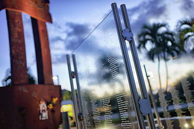 Photograph - 9-11 Memorial by Mike Sperduto