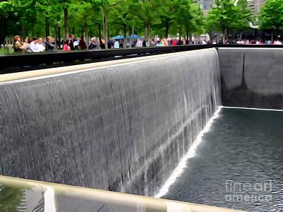 Digital Art - 9-11 Memorial Plaza #1 by Ed Weidman