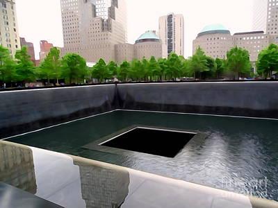 Digital Art - 9-11 Memorial Plaza #2 by Ed Weidman