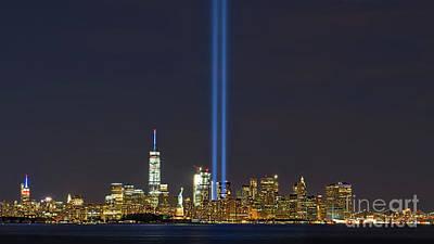 September 11 Wtc Digital Art - 9-11 Nyc Skyline  by Jerry Fornarotto