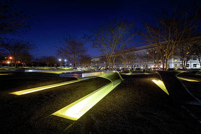 Photograph - 9/11 Pentagon Memorial by Ryan Wyckoff