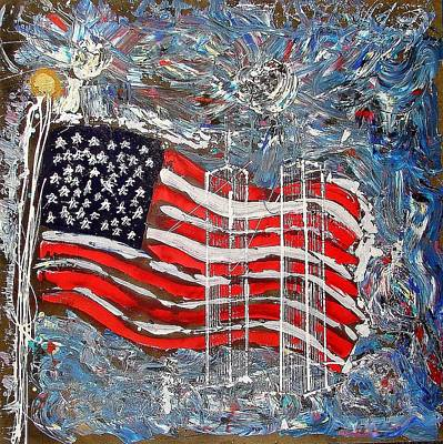 Painting - 9/11 Tribute by J R Seymour