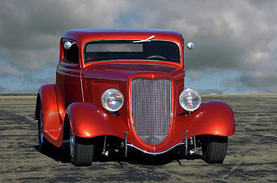Photograph - 1934 Ford Coupe Hot Rod by Tim McCullough