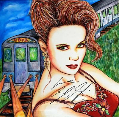 9 2 5 Train Art Print by Joseph Lawrence Vasile