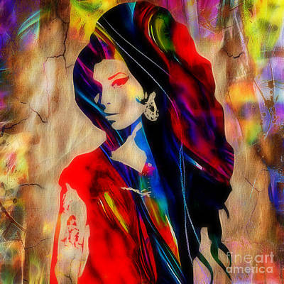 Rhythm And Blues Mixed Media - Amy Winehouse Collection by Marvin Blaine