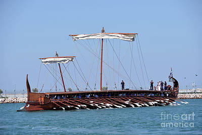 Museum Photograph - Ancient Trireme by George Atsametakis
