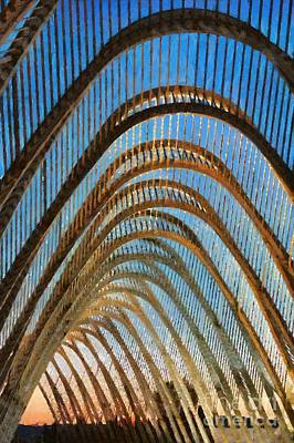 Painting - Archway In Olympic Stadium In Athens by George Atsametakis