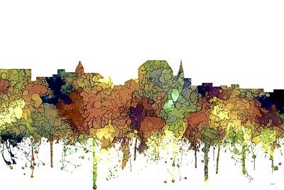 Digital Art - Augusta Maine Skyline by Marlene Watson