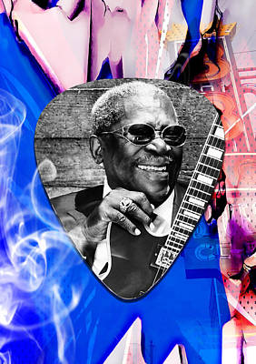 Bb King Mixed Media - Bb King Art by Marvin Blaine