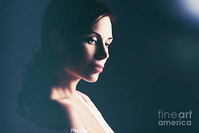 Photograph - Beautiful Woman Portrait by Anna Om