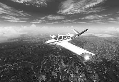 Beechcraft Bonanza Digital Art - Beechcraft Bonanza V35b by Marjan Mencin