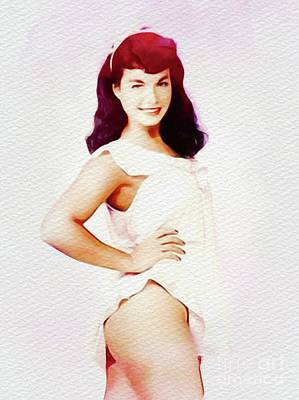 Featured Tapestry Designs - Bettie Page - Vintage Pinup by Esoterica Art Agency