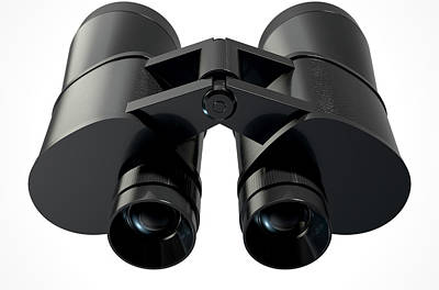 Searching Digital Art - Binoculars Isolated by Allan Swart