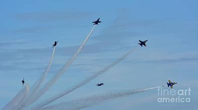 Photograph - Blue Angels  by Janice Spivey