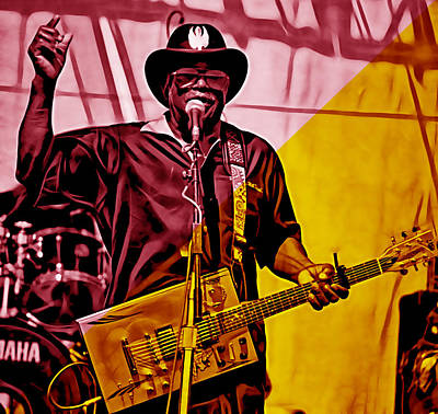 Bos Bos Mixed Media - Bo Diddley Collection by Marvin Blaine