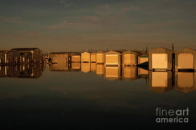 Photograph - Boathouse Reflections  by Jim Corwin
