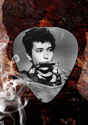 Mixed Media - Bob Dylan Art by Marvin Blaine
