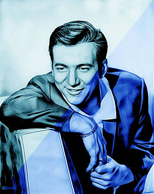 Bobby Darin Collection Art Print by Marvin Blaine
