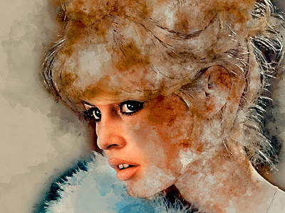 Mixed Media - Brigitte Bardot by Marvin Blaine