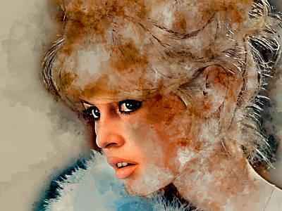 Mixed Media - Brigitte Bardot by Marvin Blaine
