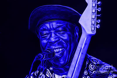 Legend Mixed Media - Buddy Guy Collection by Marvin Blaine