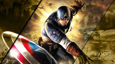 Captain America Collection Art Print