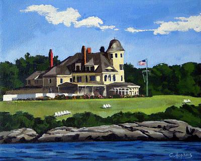 Shell Beach Inn Painting - Castle Hill Inn Newport Rhode Island by Christine Hopkins