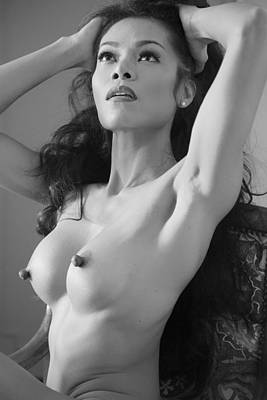 Feminine Photograph - Cat by Hugh Smith