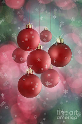 Snowfall Mixed Media - Christmas Card by Dani Prints and Images