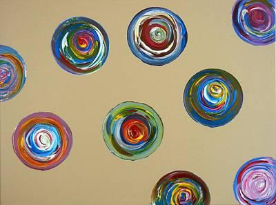 Painting - 9 Circles by Kruti Shah