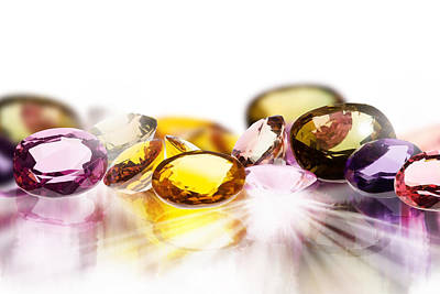 Aquamarine Photograph - Colorful Gems by Setsiri Silapasuwanchai