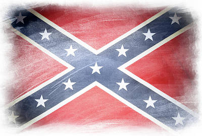 Confederate Flag Art Print by Les Cunliffe