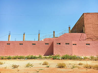 Moroccan Photograph - Construction Site by Tom Gowanlock