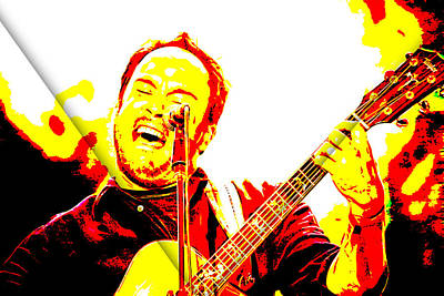 Lead Singer Mixed Media - Dave Matthews Collection by Marvin Blaine