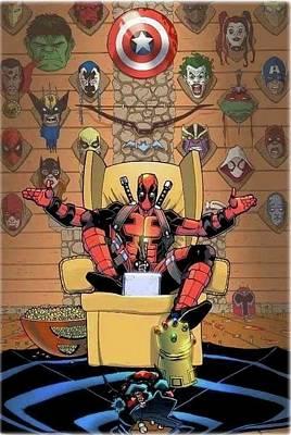 Translate Digital Art - Deadpool  by Oscar Benero Lopez