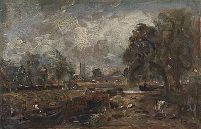 Dedham Painting - Dedham Lock by John Constable