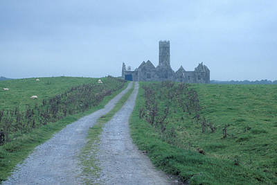 Photograph - Deserted Abbey In Ireland by Carl Purcell