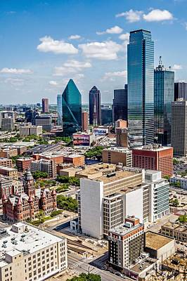 Photograph - Downtown Dallas Texas City Skyline And Surroundings by Alex Grichenko