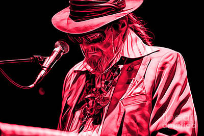 Poster Mixed Media - Dr. John Collection by Marvin Blaine