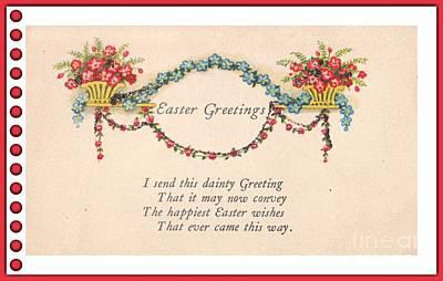 Digital Art - Easter Greetings by David and Lynn Keller
