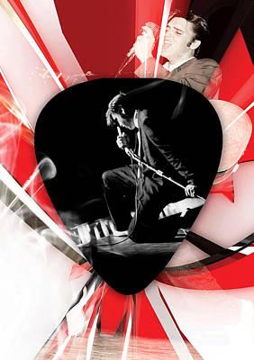 Mixed Media - Elvis Presley Art by Marvin Blaine