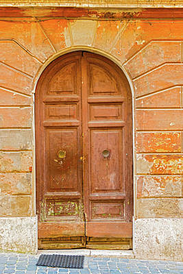 Photograph - Entrance Door In Rome, Italy by Marek Poplawski