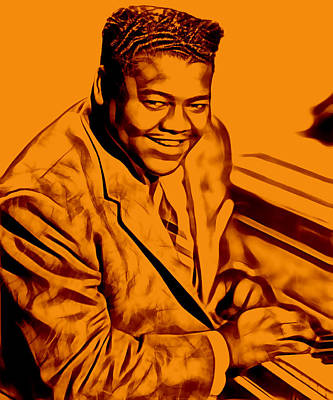 Poster Mixed Media - Fats Domino Collection by Marvin Blaine