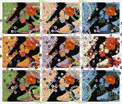 9 Flowers Art Print